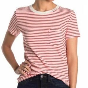 Madewell Red-and-White Classic Striped Tee - Small